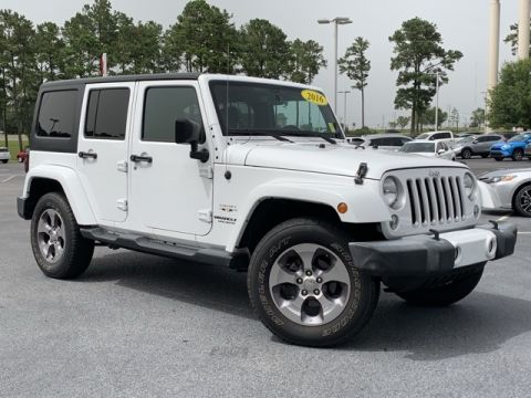 Pre-Owned 2016 Jeep Wrangler Unlimited Sahara 4WD 4D Sport Utility